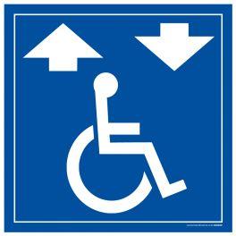 """Panneau signalétique """" Monte escalier pour fauteuil roulant"""""""