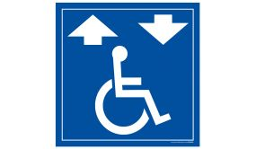 Panneau Signalisation - Monte escalier pour fauteuil roulant