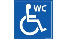 Panneau Signalisation - WC - avec picto Handicapé