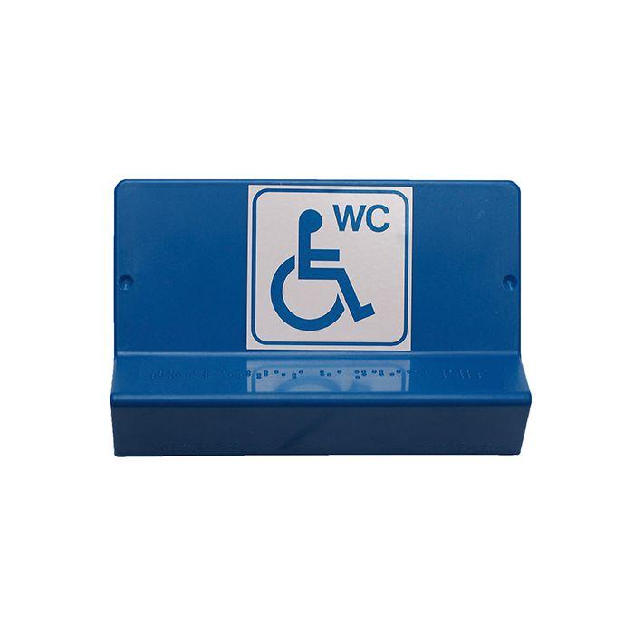 Signalétique WC PMR - braille et gravure