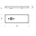 Poignée de porte déportée en inox - 100 mm ou 200 mm