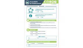 """Poster """"Mon établissement est accessible"""" - Format A4 - 1 page"""