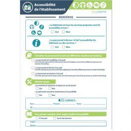 """Poster """"Mon établissement est Accessible"""" et """"Mes prestations non-accessibles"""" - 2 A4 plastifié"""