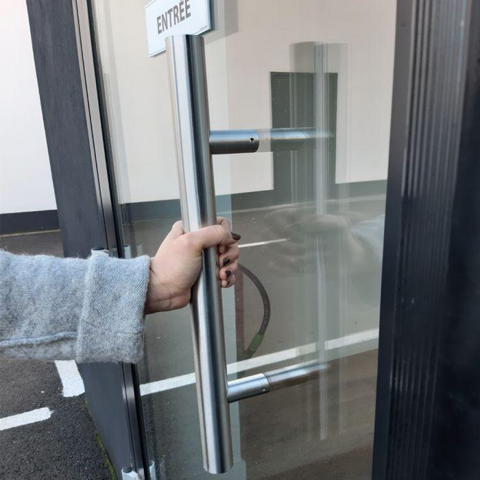 Poignée de porte en inox bâton de maréchal - simple ou double