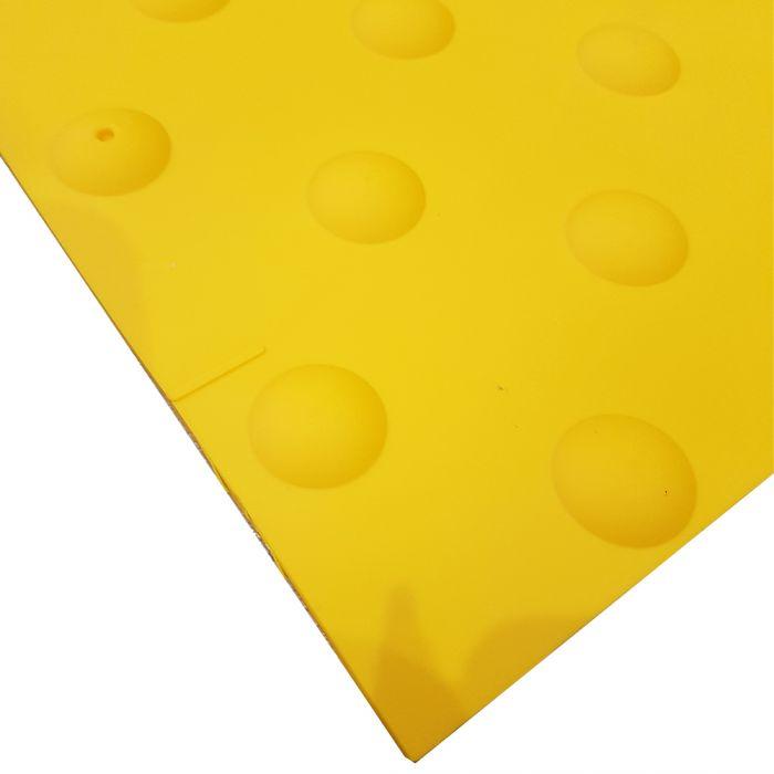 Dalle podotactile auto adh/ésive 445 x 400 mm jaune