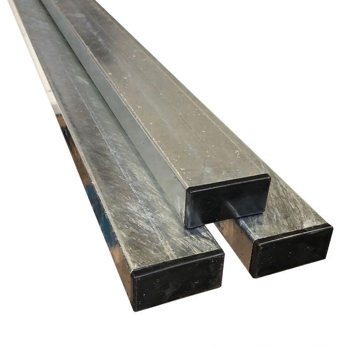Poteau Rectangulaire en Acier Galvanisé ou Aluminium anodisé