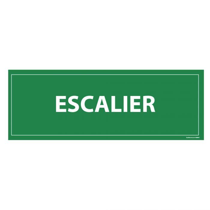 Panneau evacuation Escalier