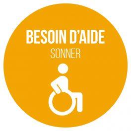 Adhésif orange pour carillon d'appel - Besoin d'aide- Jaune