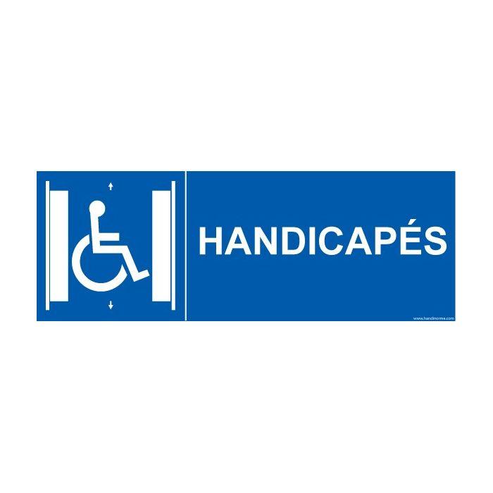 """Signalisation """" Ascenseur Handicapés PMR"""""""