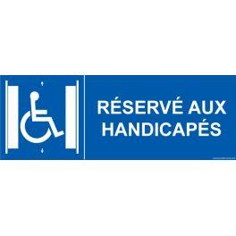 """Signalétique ascenseur PMR """"Réservé aux handicapés"""""""