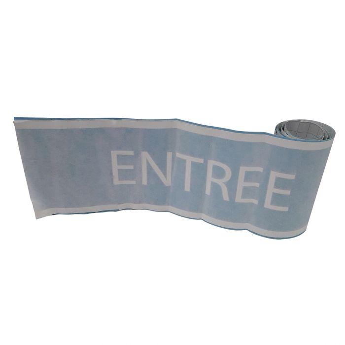 Bande pour surface vitrée avec marquage ENTREE - 10cm x 1m