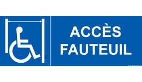 Signalisation ascenseur personnes handicapées et à mobilité réduite PMR - Accès fauteuil