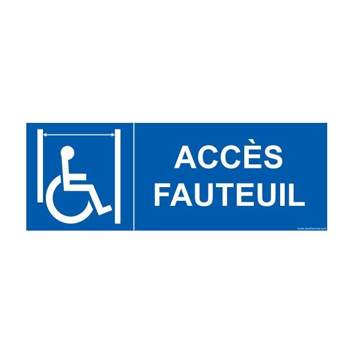 """Signalisation ascenseur personnes handicapées et à mobilité réduite PMR """"Accès fauteuil"""""""