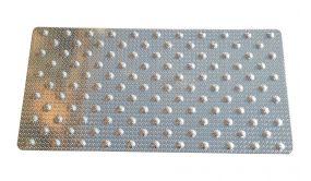Dalle podotactile en aluminium grain de riz - 420 x 825 mm