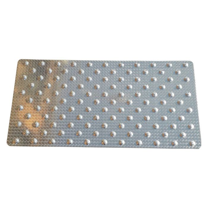 Dalle podotactile en aluminium grain de riz 420 x 825 mm