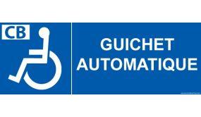 Signalisation - Guichet automatique - pour handicapé