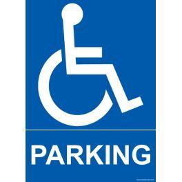 """Panneau """"Parking"""" + pictogramme handicapé"""