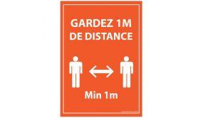 Panneau Respectez vos distances bleu Autocollant Diam: 315mm
