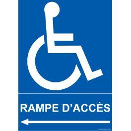 """Panneau Direction handicapé """"Rampe d'Accès"""""""