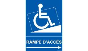 Panneau - Rampe d'accès - pour handicapé + picto