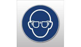 Autocollant Lunettes de protection obligatoire - M004 - Pictogramme ISO 7010
