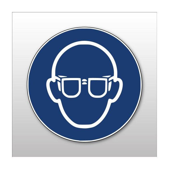 Pictogramme ISO 7010 - Lunettes de protection obligatoire - M004