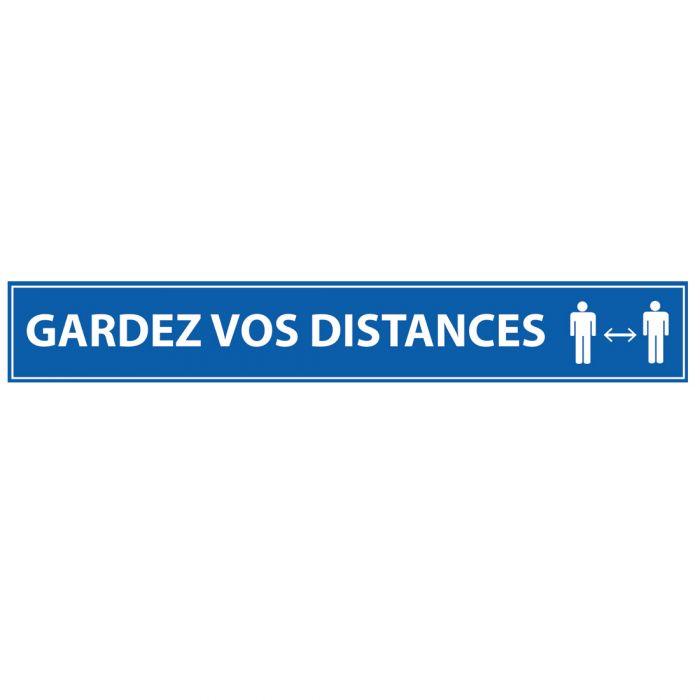 x3 - 1m Veuillez Garder Vos Distances 700x150mm Marquage au Sol Distance Sociale