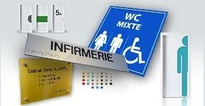 Panneaux Braille et relief