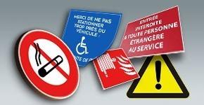 Panneaux Dangers, Sécurité et Incendie
