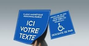 Plaque magnétique pour véhicule