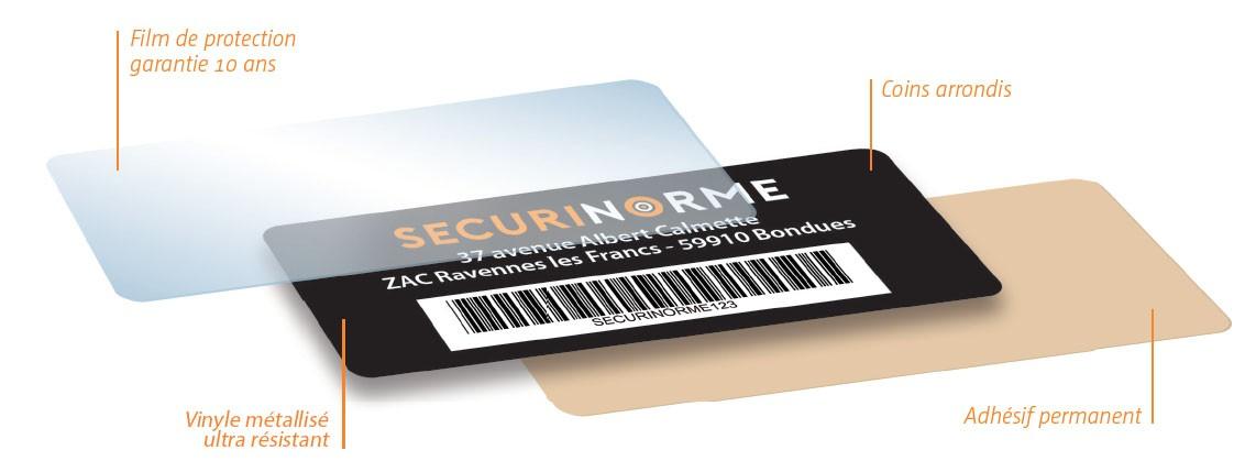 Étiquette de propriété securétik