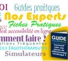retrouvez ces guides pratiques pour l'accessibilité pour tous. Des fiches, des rappels concrets de mise en oeuvre.