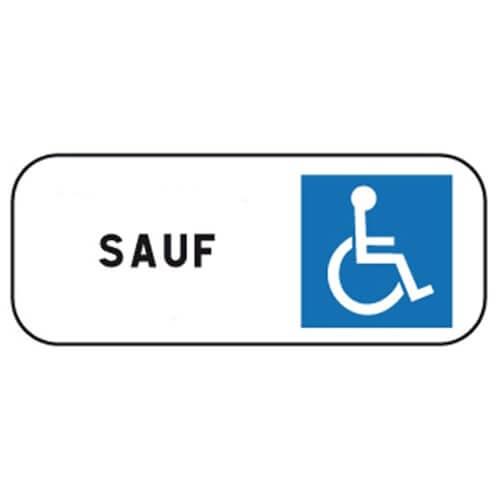 panneau sauf handicapes