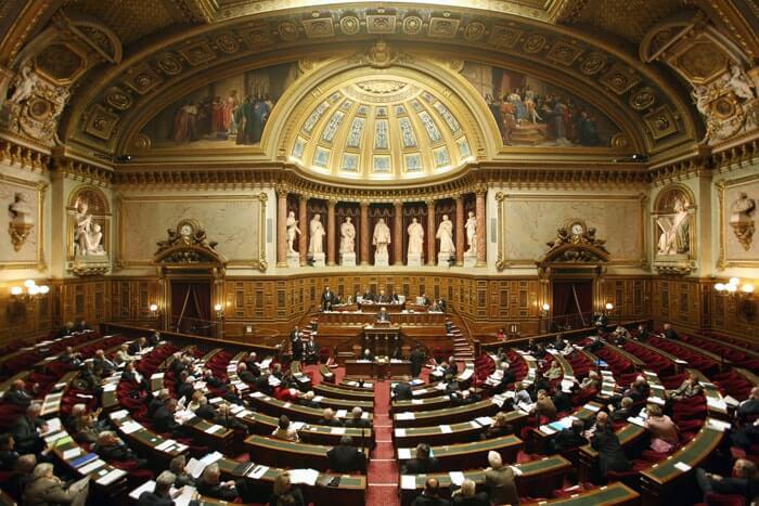 Photo de l'intérieur du Sénat
