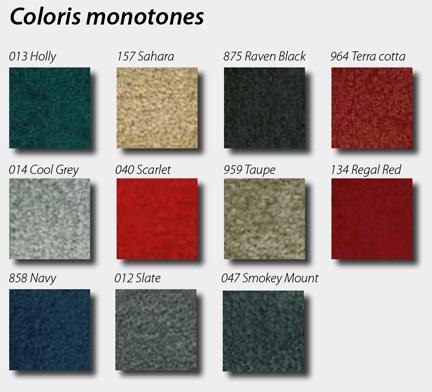 coloris monotones du tapis personnalisable