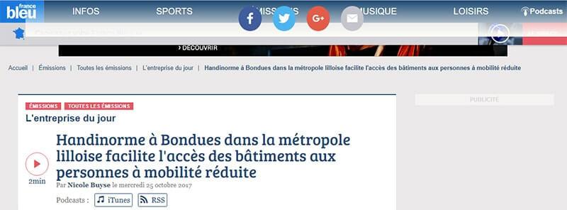 Elisa Gatineau, DG d'Handinorme Passe à la radio France Bleu Nord