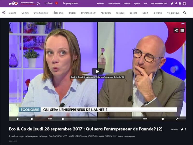 Elisa Gatineau DG handinorme interviewée par JM Lobry, PDG Wéo