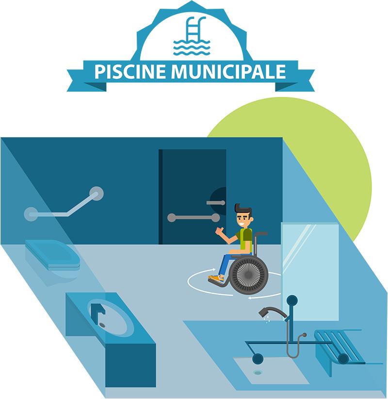 illustration piscine municipale adaptee pmr