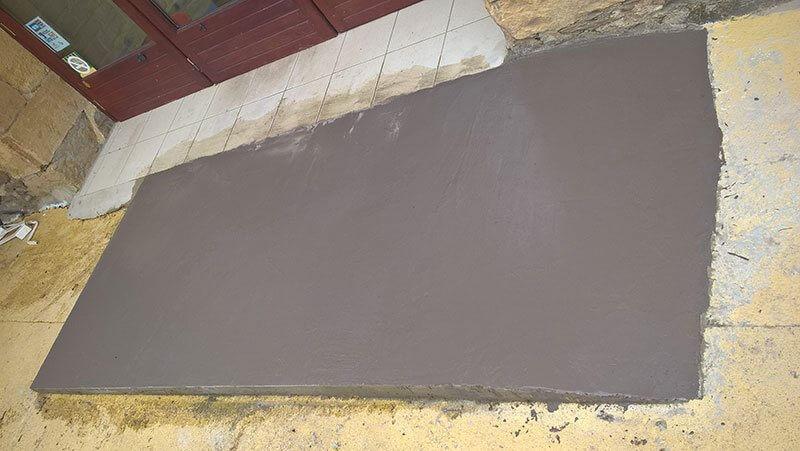 creation rampe d'accès beton