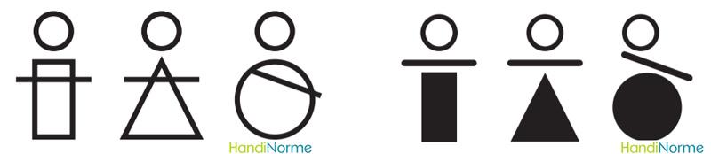 logos handicap formes géometriques