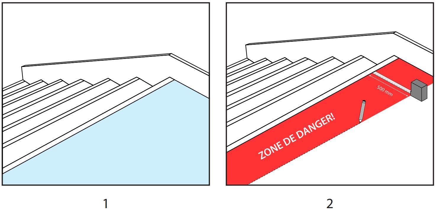 Pose dalle podotactile adhésive étapes 1 et 2