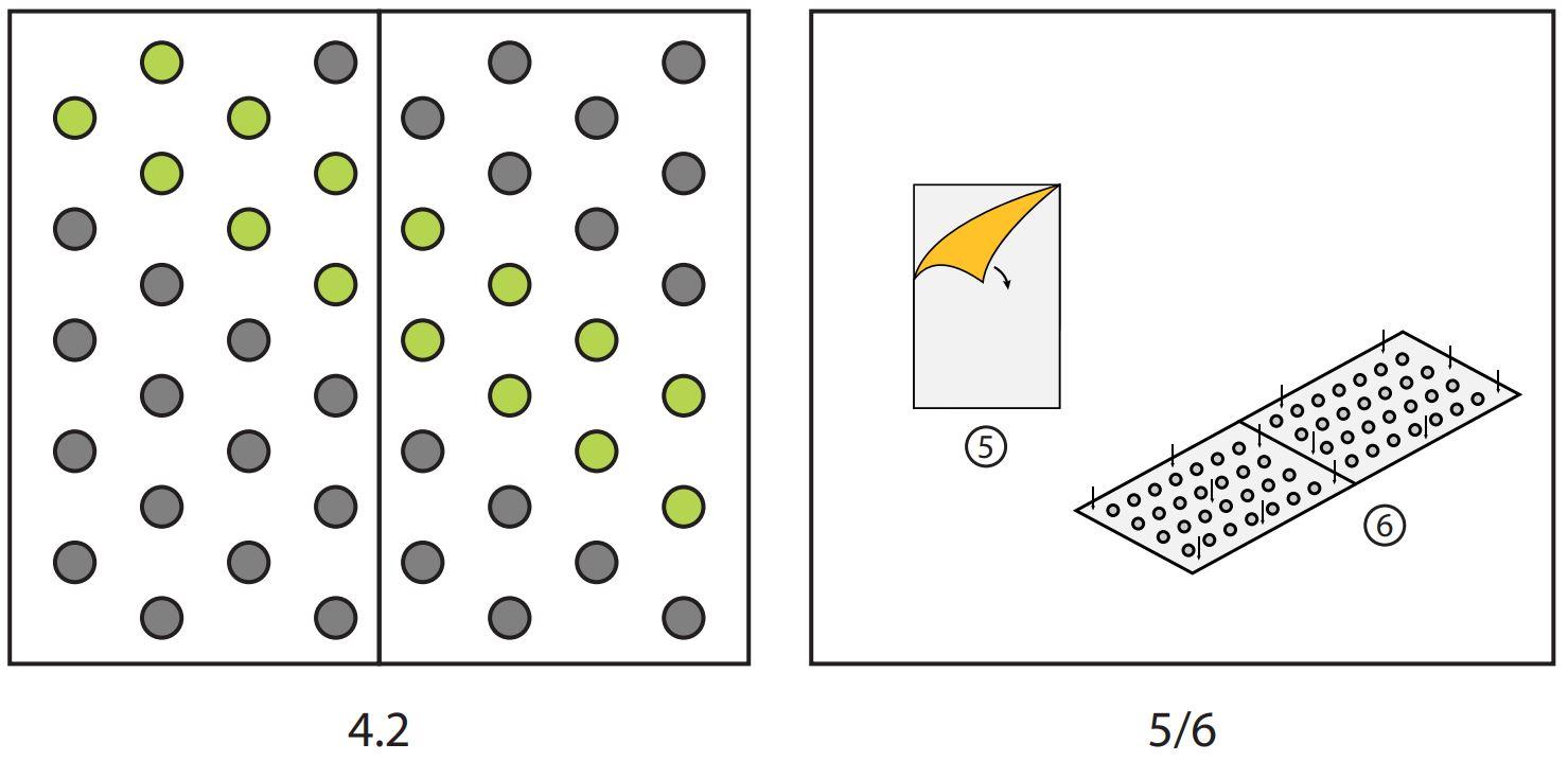 Pose d'une dalle podotactile auto-adhésive étapes 4.1 5 et 6