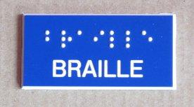 signalétique braille sur mesure