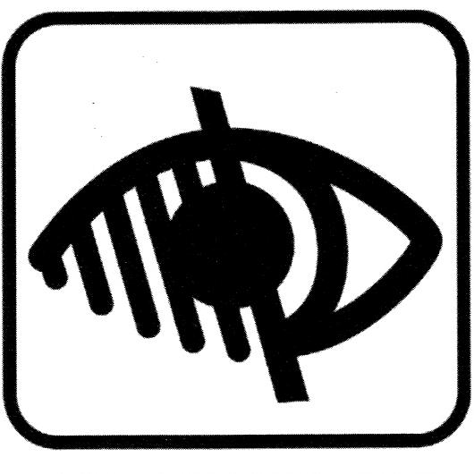 picto handicap visuel